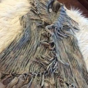 Modern 💞Chico's 💞fringe open drape cardigan/vest